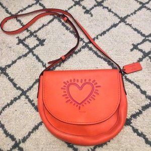 NWT Coach x Kieth Haring Co-lab leather purse